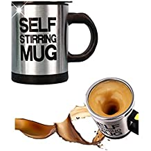 Mengshen Self Stirring Mug Travel Coffee Cup Tazas Kettle Mixer Shaker Steel Stainless 400ml, MS