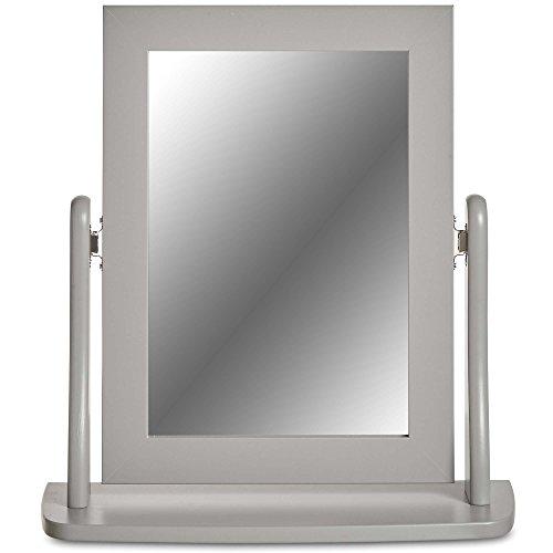Adorno - Espejo mesa gris – Para maquillarse sin