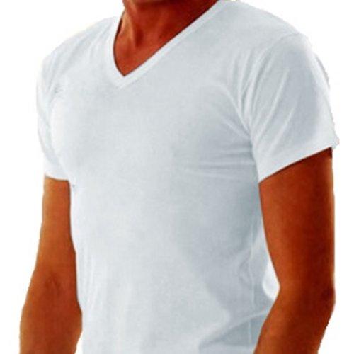 2-x-maillot-manches-courtes-et-col-v-pour-homme-100-coton-mako-blanc-surface-lisse-blanc-large
