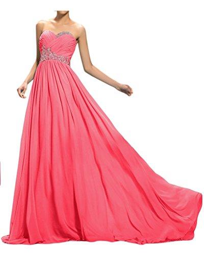 ivyd ressing robe ligne traîne pierres de haute qualité Forme de cœur A Prom Party robe lanf robe du soir Pastèque