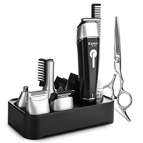 NAVANINO (Kemei) Haarschneidemaschine Multifunktions-Haarschneider kann als Trimmer Heimkit und Schere verwendet werden
