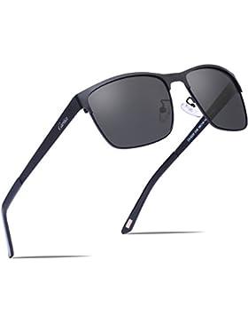Occhiali da sole Aviator,Carfia Occhiali da Sole Aviator Polarizzati per Uomo e le Donne Unisex - UV400 Protezione