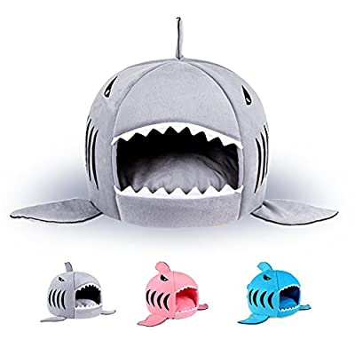 Pet Warm Soft Sleeping Bag Shark Dog Kennel Cat Bed House - cheap UK light shop.