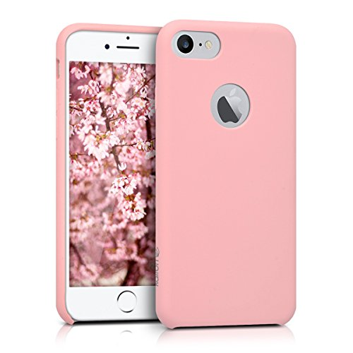 kalibri-softe-Silikon-Hlle-matt-fr-Apple-iPhone-7-TPU-Schutzhlle-Case-innen-mit-Mikrofaserbezug-in-Rosa