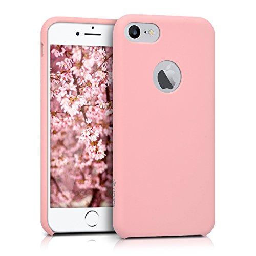 kalibri-softe-Silikon-Hlle-matt-fr-Apple-iPhone-7-TPU-Schutzhlle-Case-innen-mit-Mikrofaserbezug-in-Rosa
