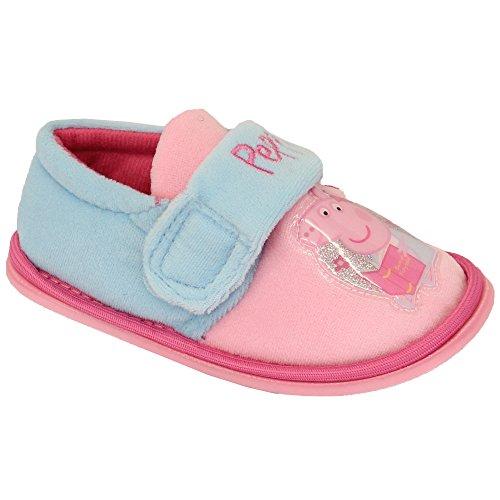 Filles Enfants Disney Frozen ANNA ELSA Peppa Pig Chaussons À Velcro Chaussures Rose