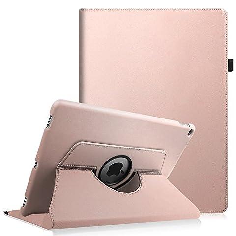 iPad Pro 12.9 Zoll Hülle - Fintie 360 Grad Rotierend Stand Kunstleder Schutzhülle Smart Cover Case Tasche Etui mit Auto Schlaf / Wach Funktion für Apple iPad Pro 12,9 Zoll 2015 Release Tablet, Roségold