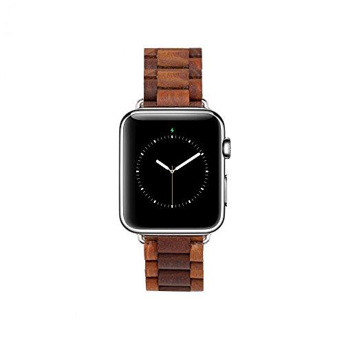 MAM Originals · Apple Watch Strap   Correa para Apple Watch   Creada con madera sostenible   Alta calidad a buen precio (42 mm, Sándalo)