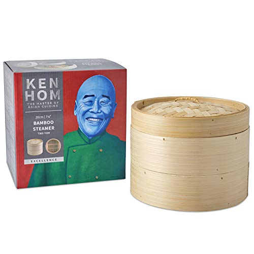 Ken Hom KH506 - Vaporera, bambú, color crema