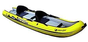 Sevylor Explorer Reef 300 Sit On Top Kayak gonflable + sac kayak pour 2 personnes Jaune