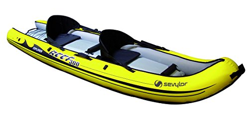 Sevylor Reef 300 Kayak Gonfiabile, Sit On Top, Kayak Mare da 2 Posti, Canoa, 296 x 84 cm