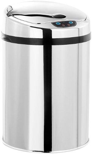 infactory Abfalleimer mit Sensor: Abfalleimer mit Hand Bewegungssensor und Edelstahl-Korpus, 9 Liter (Automatische Abfalleimer) (Papierkorb Edelstahl öffnen)