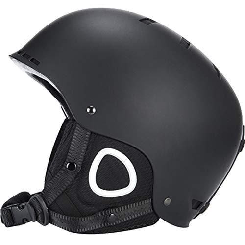 Marke Schwarz Skihelm Mann/Frau / Kinder Snowboard Helm Winter Schnee Snowmobile Maske Schlitten Moto Skis Sport Sicherheit Black 56-60cm