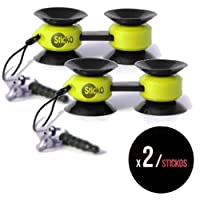 Yellow Sticko Multi-purpose Tiny Suction Cup Mount Holder - 2 pack