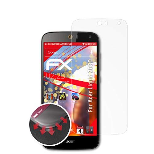 atFolix Schutzfolie passend für Acer Liquid Z630 Folie, entspiegelnde und Flexible FX Displayschutzfolie (3X)
