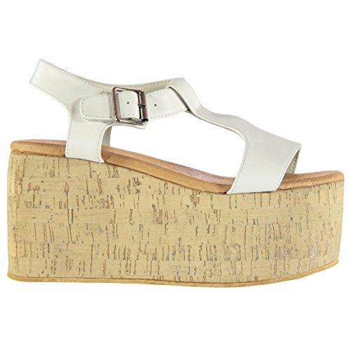 Jeffrey Campbell Weekend piattaforma sandali calzature Scarpe da donna bianco, bianco