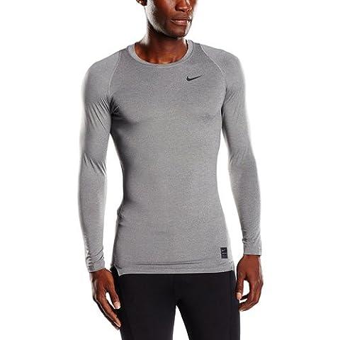 Nike Herren Kompressionsshirt Pro Cool Compression LS, Carbon Heather/Black, L, 703088-091
