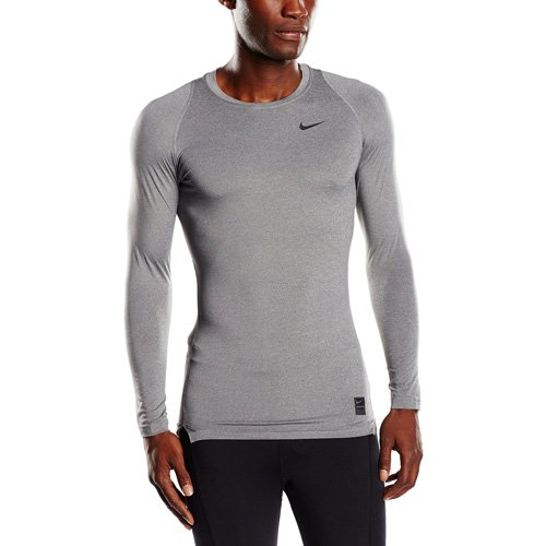 Nike Herren Kompressionsshirt Pro Cool Compression LS Langarm, Carbon Heather/Black/Black, M -