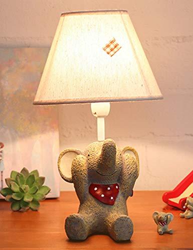 Los niños idílicos de Dibujos Animados de la lámpara del Elefante Dormitorio lámpara de Noche Linda Personalidad Creativa lámpara de Mesa Decorativa (Color : C)
