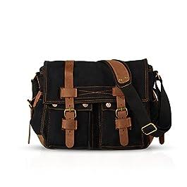 FANDARE Unisex Borsa a Tracolla 14 pollici Laptop Messenger Bag Uomo Borse a Spalla Borsa Zainetto Briefcase Multifunzione Tela