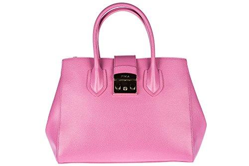 Furla Leder Handtasche Damen Tasche Bag rosa (Furla Tasche Leder)