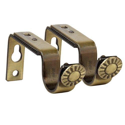 foopp 2verstellbare Stange, Metall, Unterstützung Klammern (Bronze Farbe)