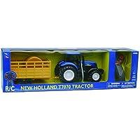NewRay 88555 New Holland T7070 - Tractor teledirigido con Remolque