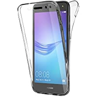 Coque Gel Huawei Y6 2017 , Buyus Coque 360 Degres Protection INTEGRAL Anti Choc , Etui Ultra Mince Transparent INVISIBLE pour Huawei Y6 2017 , Coque Huawei Y6 2017