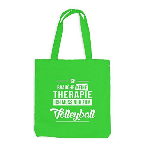 Jutebeutel - Ich Brauche Keine Therapie Volleyball - Sport Hellgrün