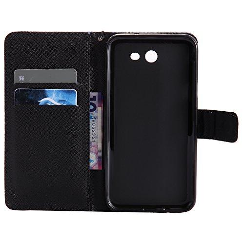 Coque Cuir Huawei P10 Plus, Meet de PU Cuir Flip Magnétique Portefeuille Etui Housse de Protection Coque Étui Case Cover avec Stand Support Avec des Cartes de Crédit Slot et Fonction Support pour Huaw cartes fantôme