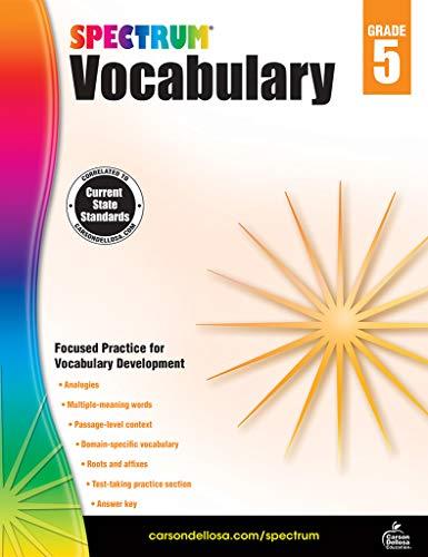 Spectrum Vocabulary, Grade 5 (Language Spectrum Arts 5)