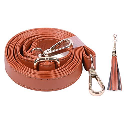 Tan Leder Hobo (Geldbörse Gurt Ersatz, verstellbar Mikrofaser Leder Tragegurt für Cross-Body-Tasche oder Handtasche-34'149,9cm lang, von beaulegan 0.8 inch Wide Camel (Gold Buckle))