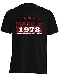 Hecho en 1978 Todas Las Piezas Originales Funny Novedad Camiseta de los Hombres jj74m