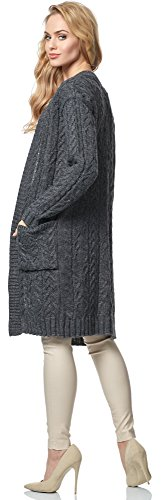 Merry Style Damen Cardigan MSSE0036 Graphite