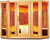 sauna acristalada infrarrojos de 5 lados