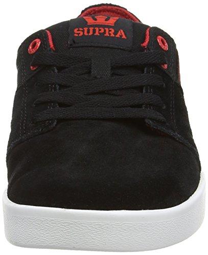 Supra Stacks Ii, Sneakers Basses Mixte adulte Noir (black / Red  - White   Bkr)