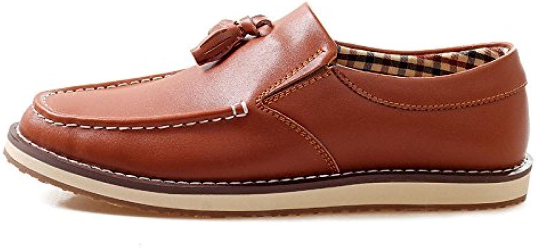 Zapatos De Cuero De Moda Casual De Verano Zapatos Perezosos De Slip-On Zapatos De Hombre