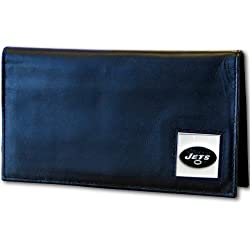 NFL New York Jets Leather Checkbook Cover