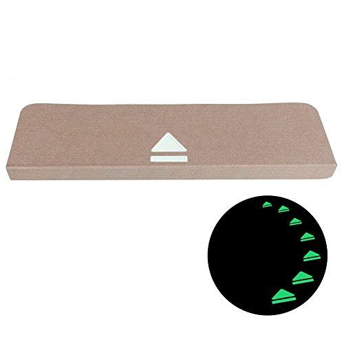5 PCS Stufenmatte nachtleuchtend Treppenstufenmatte Treppenstufen Treppenständer rutschfest Klebebänder rechteckig Treppenhausauflage (Beige)
