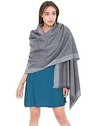 Diamond Weave Textured Merino Wool Pashmina Scarf