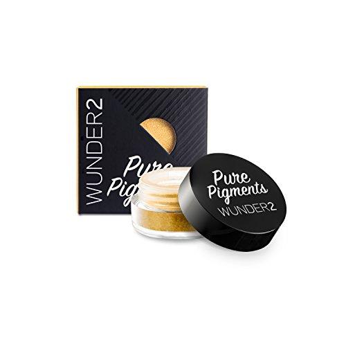 WUNDER2 PURE PIGMENTS Pigments Purs Colorés - Pigments Libres Colorés Maquillage des Yeux, Teinte Sunkissed Gold