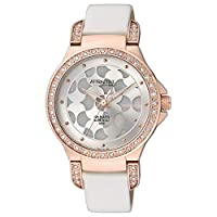 Q&Q Women's Grey Dial Leather Band Watch - DA81J101Y