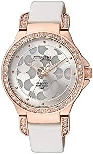 Q&Q Women's Grey Dial Leather Band Watch - D