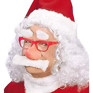 WIDMANN 1499g?Disfraz Gafas, Cejas, Nariz y bigote de Papá Noel Navidad
