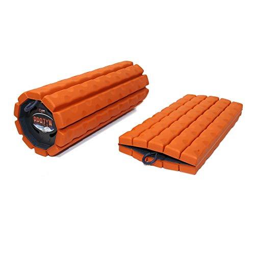 Brazyn Faltbares und tragbares Muskel-Rückenmassagegerät für die Myofascial Release Massage (Morph Bravo Foam Roller) Sunset orange (Bravo Roller)