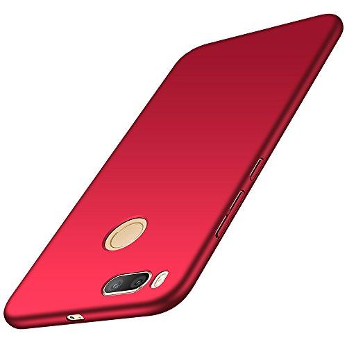 anccer Xiaomi Mi A1 Hülle, [Serie Matte] Elastische Schockabsorption und Ultra Thin Design für Xiaomi Mi A1 (Glattes Rot)