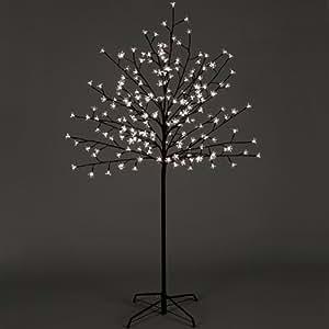 Premier Dec - 1.8m Blossom Cherry Tree With 180 LED Lights - White