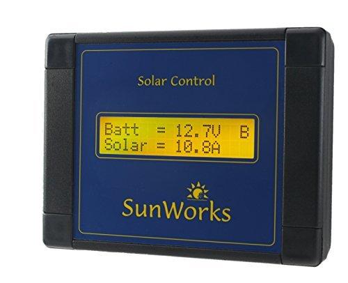 170 Watt-solar-panel (Solar Panel Laderegler Regler für Wohnmobile und Boote. Sunworks SB1C 11A, 170W. Intelligente Automatik PWM Solarladevorgang. Schwarz.)