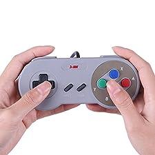 HDE SNES USB Controller Retro Styled Super Nintendo Gamepad for PC / Mac / Windows / Linux / Raspberry Pi (One Pack)