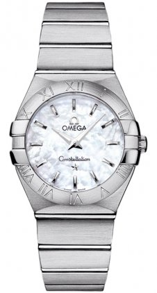 Omega 123.10.27.60.05.001 – Wristwatch women's, stainless steel strap